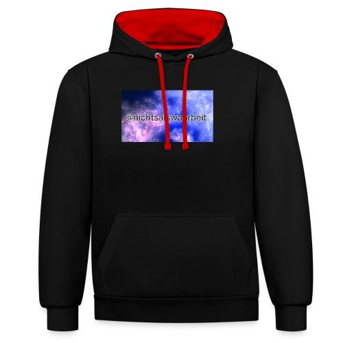 nichtsalswahrheit Galaxy - Kontrast-Hoodie