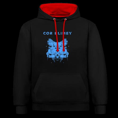 Cor Blimey - Kontrast-Hoodie