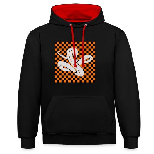 Wavy snake - Contrast hoodie