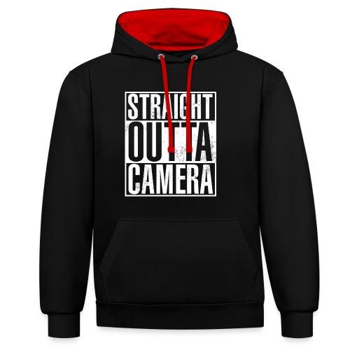 Straight Outta Camera - Black - Kontrast-Hoodie