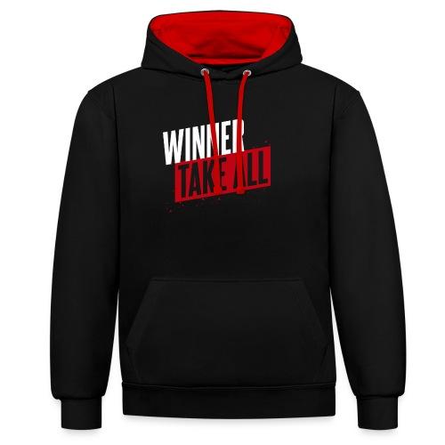 Winner take ALL - Kontrast-Hoodie