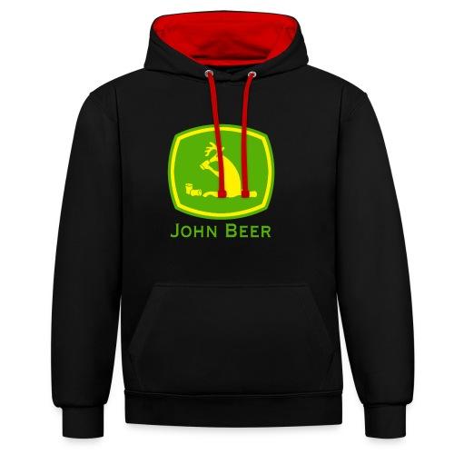 john beer-Funny Shirt - Kontrast-Hoodie