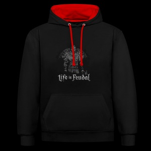 Life is Feudal SteamBadge 2 - Sweat-shirt contraste