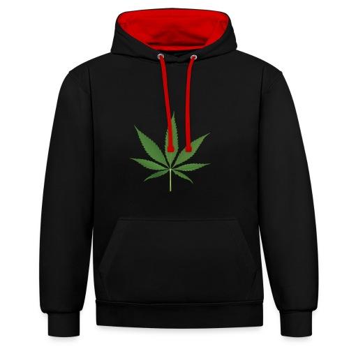 weed - Contrast Colour Hoodie