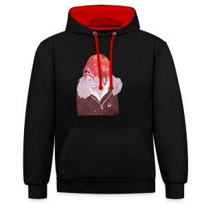 Yuri the traveler - Contrast Colour Hoodie
