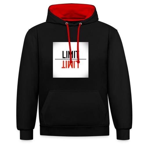 LIMIT - Sudadera con capucha en contraste