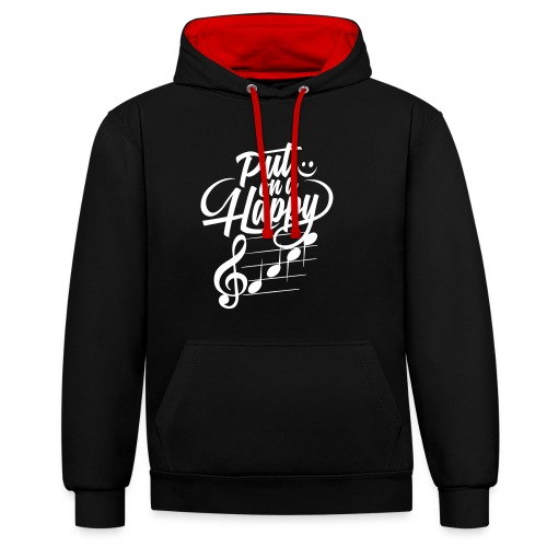 happy face colorize - Kontrast-Hoodie
