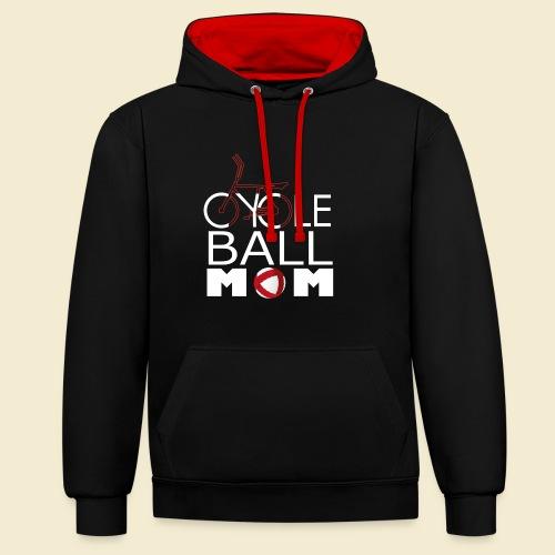Radball | Cycle Ball Mom - Kontrast-Hoodie