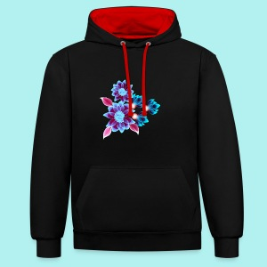 Hypnotic flowers - Sweat-shirt contraste