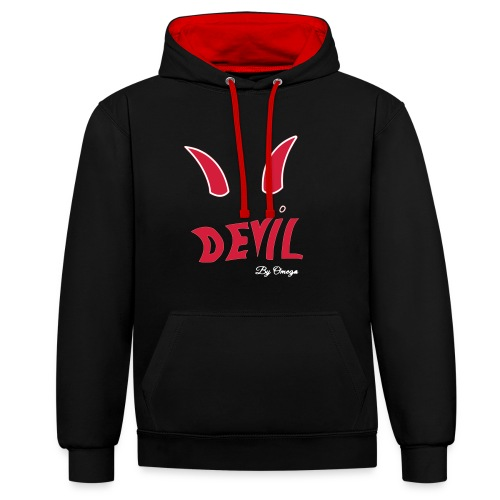 Collection devil by oméga - Sweat-shirt contraste