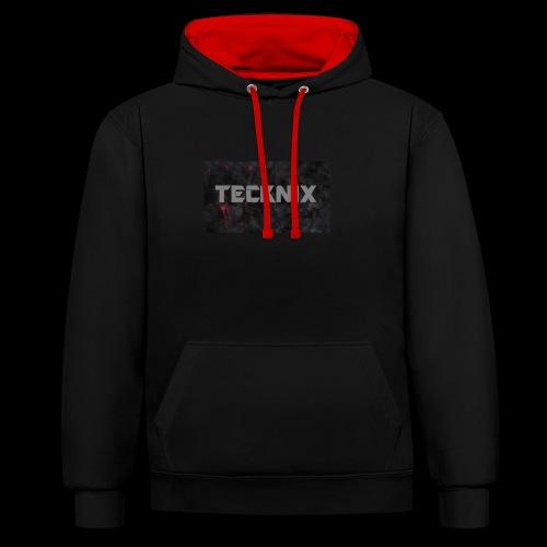 Tecknix - Kontrast-Hoodie