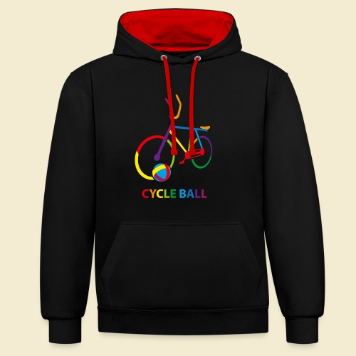 Radball | Cycle Ball Rainbow - Kontrast-Hoodie