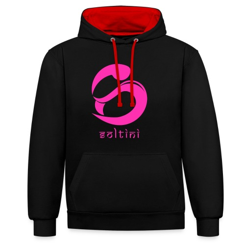 SoltiSquad Pink Logo For Soltini (Female) - Contrast Colour Hoodie