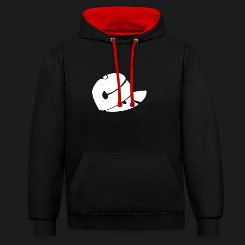 CS Capsucht logo wei - Kontrast-Hoodie
