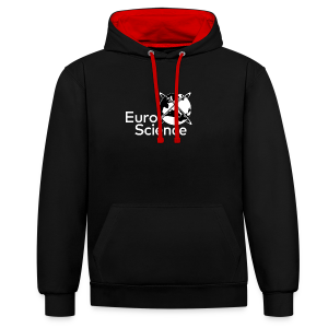 Euroscience logo White - Contrast Colour Hoodie