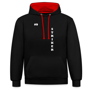 THE STRIKER #9 - Contrast Colour Hoodie