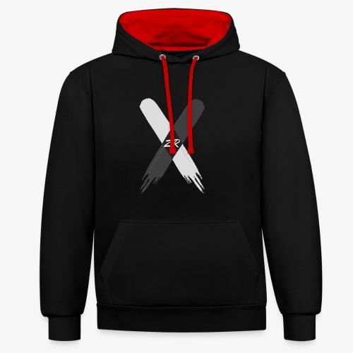 X - Contrast Colour Hoodie