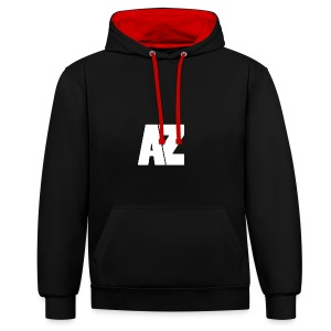 Androklez White Text - Contrast Colour Hoodie