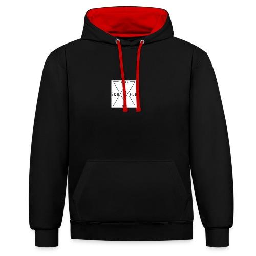 Ben Scho YT box logo - Contrast Colour Hoodie
