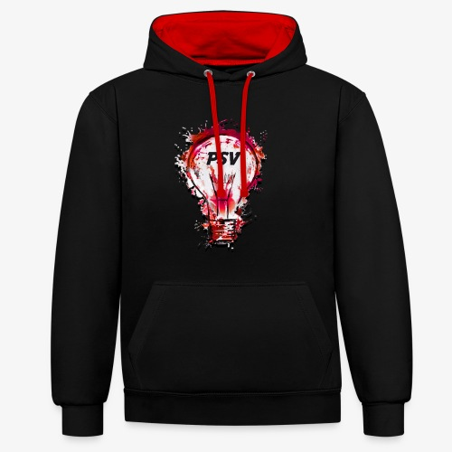 light bulb psv - Contrast hoodie