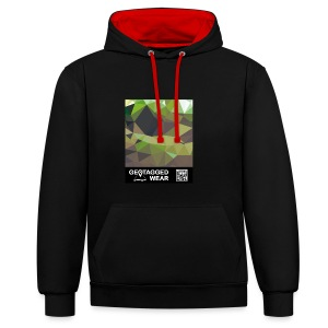 Camouflage Woodland II - Muskoka Collection 1708 - Kontrast-Hoodie