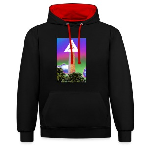 SIXTH DIEMENSION MONUMENT - Contrast Colour Hoodie