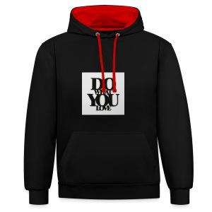napis-na-sciane-do-what-you-love-czarny-jpg - Bluza z kapturem z kontrastowymi elementami