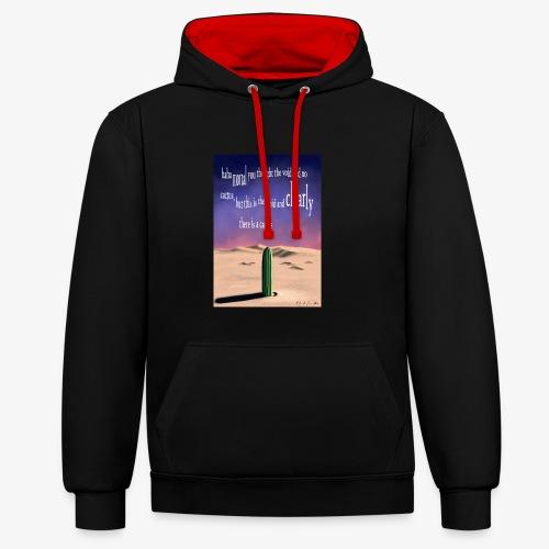 Surreal cactus - Contrast Colour Hoodie