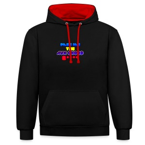 Pass me the AUX chord B**** - Contrast Colour Hoodie