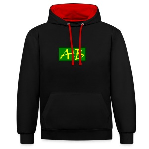 AtoB Logo green / yellow - Contrast Colour Hoodie