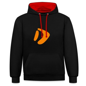 Logo D Orange DomesSport - Kontrast-Hoodie