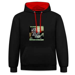 love your body - Contrast Colour Hoodie