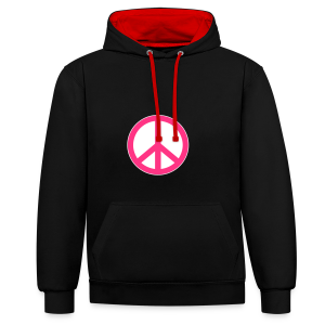 Peace, Love and Happiness - Contrast hoodie