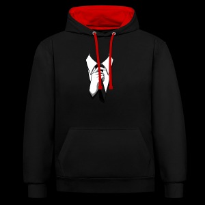 anonymous schlips - Kontrast-Hoodie