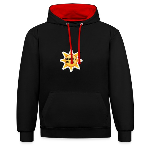 Official Summer Is Here Branded Merchandise! - Contrast Colour Hoodie