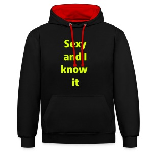 I know it - Contrast hoodie