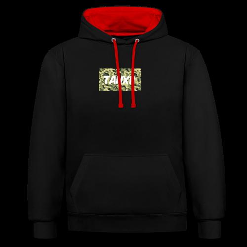Camo Logo - Contrast Colour Hoodie