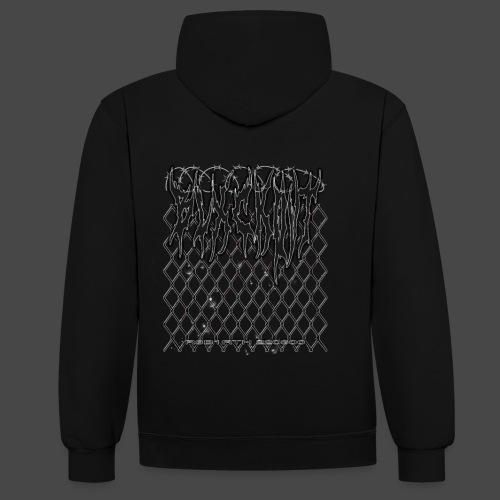 chainlinked hoodie - Contrast Colour Hoodie
