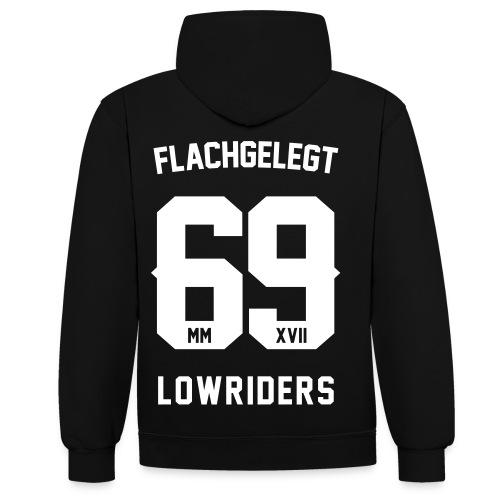 flachgelegt lowriders - Kontrast-Hoodie