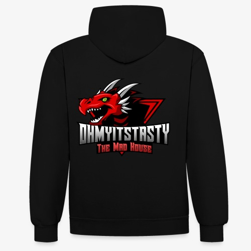 OhMyItsTasty MAD HOUSE logo - Contrast Colour Hoodie