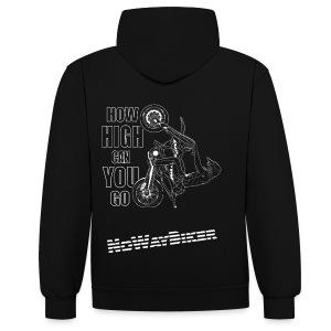 NoWayBiker - Wheelie - How High Can You go - Kontrast-hettegenser
