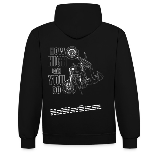 NoWayBiker - Wheelie - How High Can You go - Kontrast-hettegenser