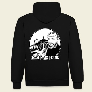Don't fear the BEAR(d) - Kontrast-Hoodie