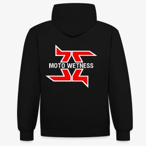 Moto Wetness - BACK EDITION - Contrast Colour Hoodie