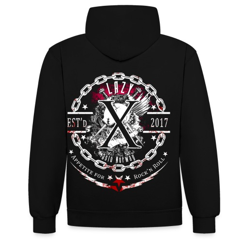 Lazy X - Appetite for Rock'n Roll - Contrast Colour Hoodie