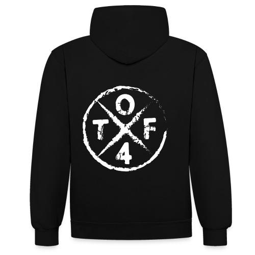 O4TF logo - Kontrast-Hoodie