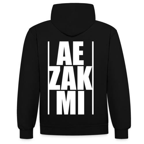 AEZAKMI-white, back - Bluza z kapturem z kontrastowymi elementami