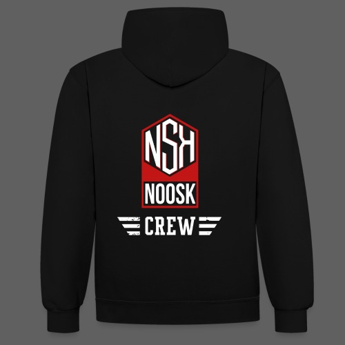 NOOSK CREW [ROUGE] - Sweat-shirt contraste