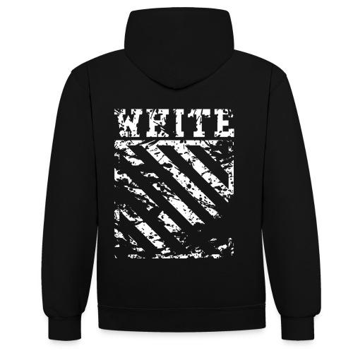 Off-White Streetwear - Kontrast-hættetrøje