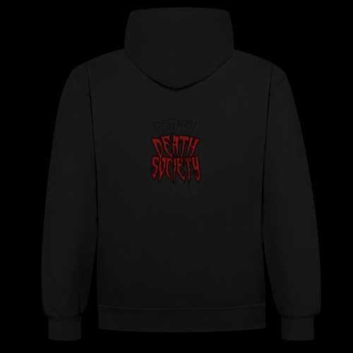 Death Society Records - Contrast Colour Hoodie